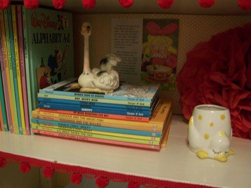Books and a pom pom...