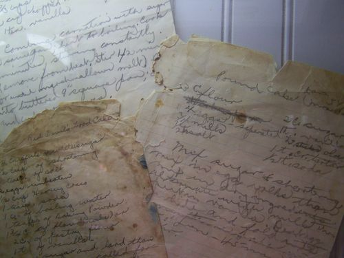 Handwritten recipes...