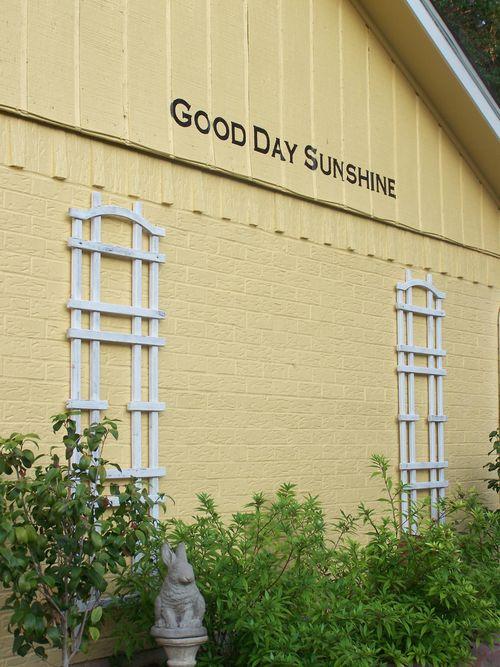Good day sunshine...
