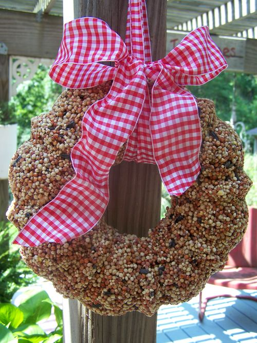 Bird seed wreath...