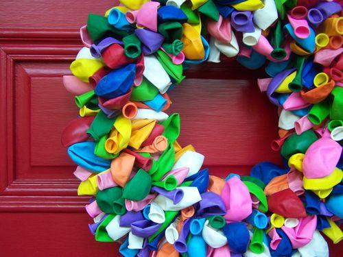 Birthday balloon wreath...