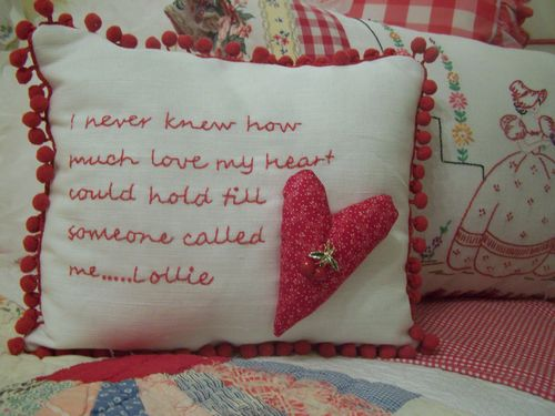 Lollie's pillow...