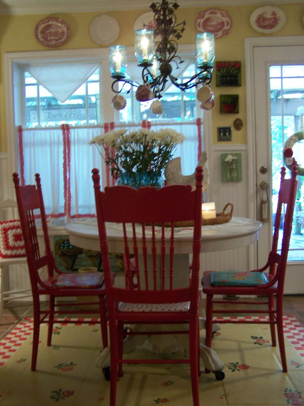 Cherry Hill Cottage Antique Red Chairs