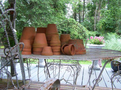 Old pots...