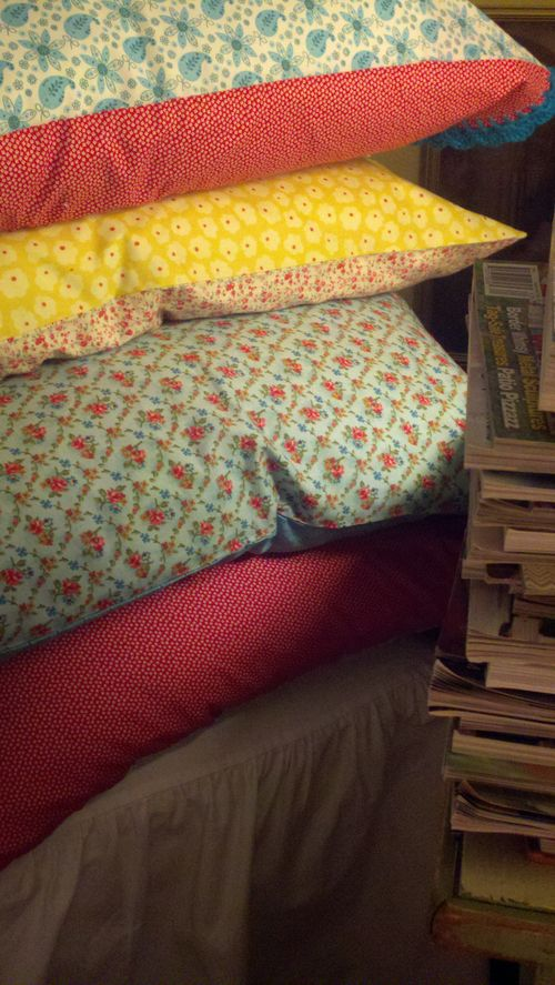 Stack of pillows...