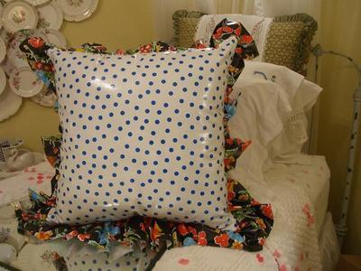 Blue_polka_dot_oilcloth_pillow